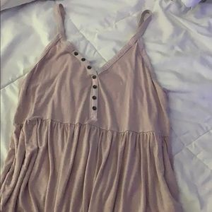 American eagle soft pink tank top